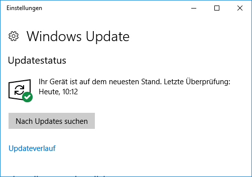 Windows Update unter Windows 10